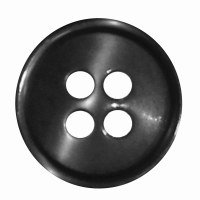 Button 4 Hole 13mm Black