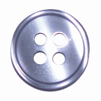 Button 4 Hole 13mm Blue Grey