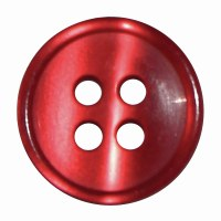 Button 4 Hole 13mm Red