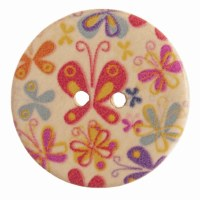 Button Round Butterfly 20mm
