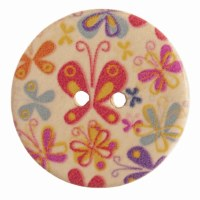 Button Round Butterfly 25mm