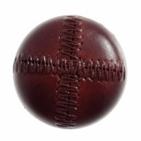 Button Football 20mm Red Brown