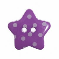 Button Spotty Star 18mm Purple
