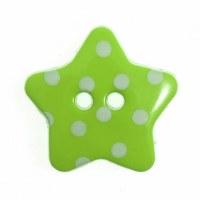 Button Spotty Star 18mm Green