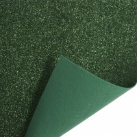 Glitter Felt Roll Green