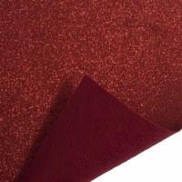 Glitter Felt Roll Red