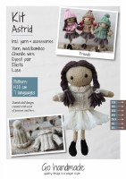 Knitting Kit Astrid Brown/Whit