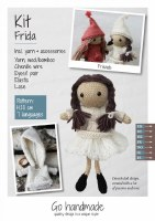 Knitting Kit Frida Brown/white