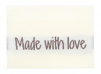 "Woven label ""made with love"""