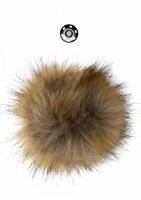 GH Pompom w/button 13cm Natura