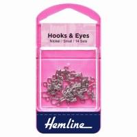 Hook & Eyes Size 1 14 Sets Sil