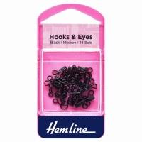 Hook & Eyes Size 2 14 Sets Bla