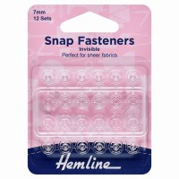 Snap Fasteners 7mm - Clear