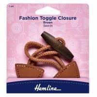 Toggle Closure - Brown