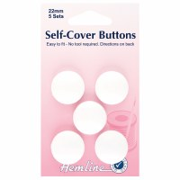 Self-cover buttons nylon 15mm