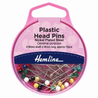 Hemline Plastic Head Long Pins