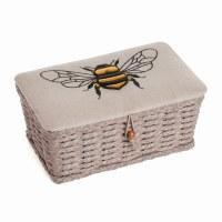 Sewing Basket Woven/Linen Bee