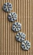 Incomp Buttons L552 Blu Flower