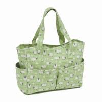 Knitting Bag Sheep on Green