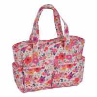 Knitting Bag PVC Floral Garden