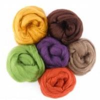 Silk Roving 6x10g Autumn/Earth