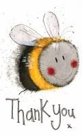 Alex Clark Notelets Bee Thank