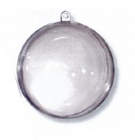 Plastic Ball Clear 80mm