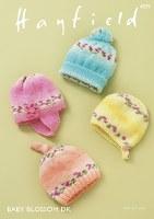 Hayfield 4839 Hats in Bloss dk