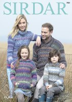 Sirdar 7881 Sweaters in Aura