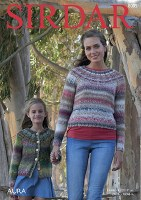Sirdar 8005 Sweater/Cardi Aura