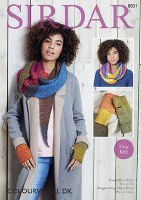 Sirdar 8031 Snood, Wrap & Mi d