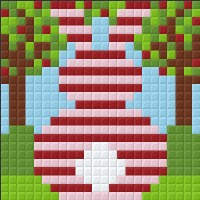 Pixel Kit Striped Bunny