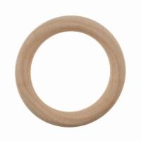 Craft Ring: Wooden: Round: 7cm