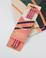 3 Orchid pink Pencils