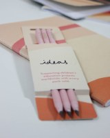 3 Pale Pink Pencils