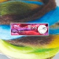 DWE Rainbow Wool Brown-Turquoi