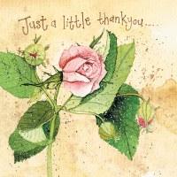 Alex Clark Pink Rose Thank you