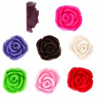 Black Acrylic Flat Rose
