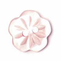 Button Flower 15mm Light Pink