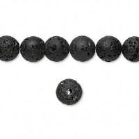 Bead Black Lava 8mm