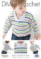 DMC Crochet Boys Striped Jumpe