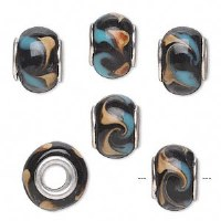 Bead Glass Black & Brown