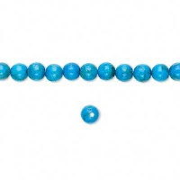 Bead Howlite Turquoise 4mm