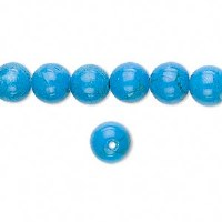 Bead Howlite Turquoise 8mm