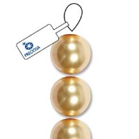 Bead Preciosa 3mm Pearl Gold