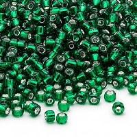 8/0 Seed Bead Em Green SL 20g