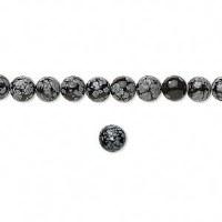 Bead Snow Obsidian 4mm