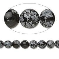 Bead Snow Obsidian 8mm