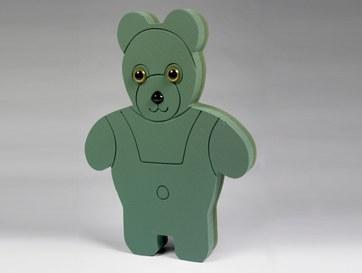 Teddy bear florist foam pre cut shape, 19in