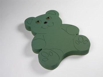 Florist foam teddy bear tribute shape